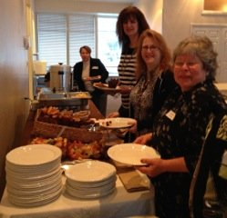 Attendees enjoying Women's AM breakfast